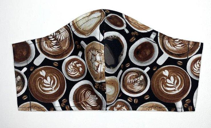 Coffee Shop Cappuccino Barista MEDIUM Adult Face Mask   Etsy