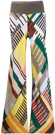 colour blocked palazzo trousers