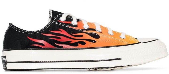 Chuck 70mm flame-print low-top canvas sneakers