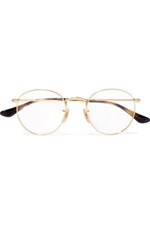 Ray-Ban   Round-frame gold-tone optical glasses   NET-A-PORTER.COM