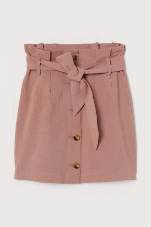 Paper-bag Skirt - Pink