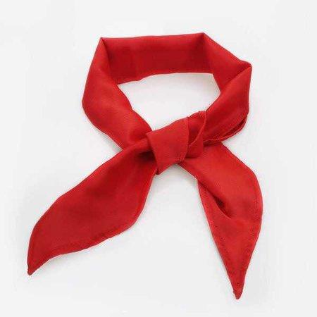 Rock N' Rose Red Silk Neck Tie Choker