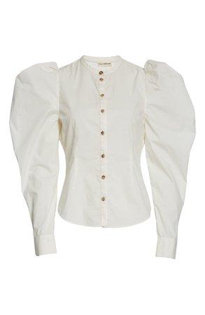 Ulla Johnson Willa Puff Sleeve Cotton Blouse | Nordstrom