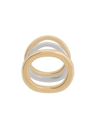 Charlotte Chesnais Wave Set Of Three Rings - Farfetch