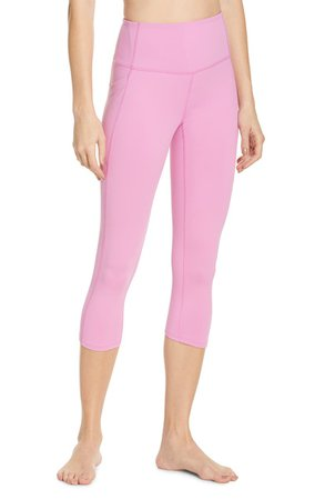Zella Live In High Waist Pocket Crop Leggings | Nordstrom