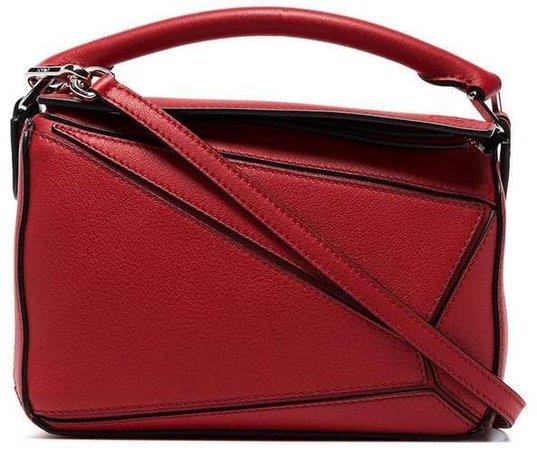 red Puzzle mini leather shoulder bag
