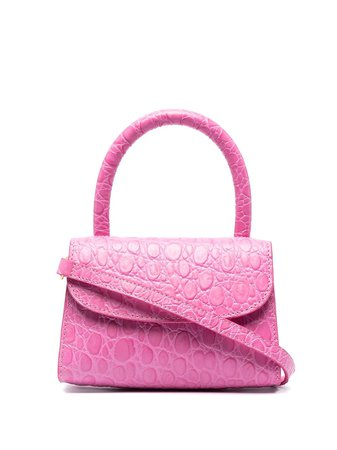 BY FAR crocodile-embossed Mini Bag - Farfetch