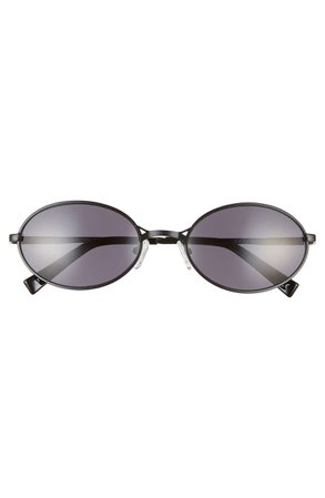 Le Specs Nowhere Rund 57mm Oval Sunglasses