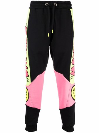 Shop black BARROW logo-print track pants with Express Delivery - Farfetch