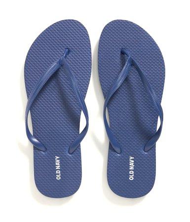 dark blue flip flops