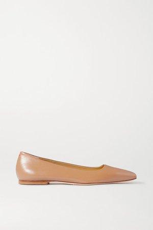aeydē | Gina leather ballet flats | NET-A-PORTER.COM