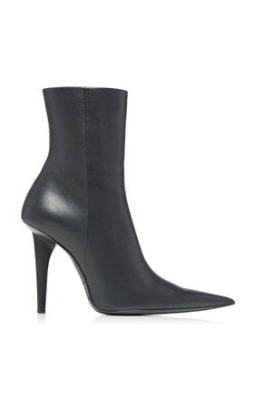 Shark Leather Ankle Boots By Balenciaga   Moda Operandi