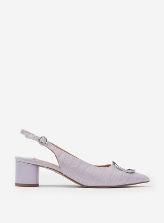 Wide Fit Lilac 'Emma' Slingback Court Shoes | Dorothy Perkins