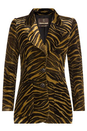 Animal Print Velvet blazer Gr. IT 40