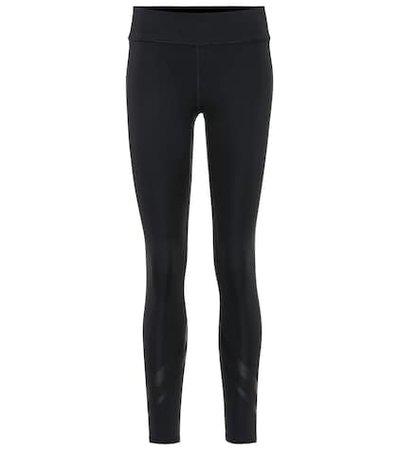 Chevron side-pocket leggings