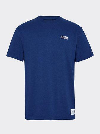 Katoenen T-shirt met logo   BLUE   Tommy Hilfiger