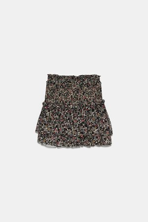 PRINTED MINI SKIRT WITH RUFFLES | ZARA United States