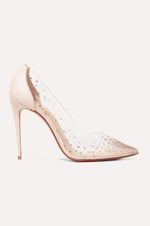 Degrastrass 100 Embellished Pvc And Leather Pumps - Pastel pink