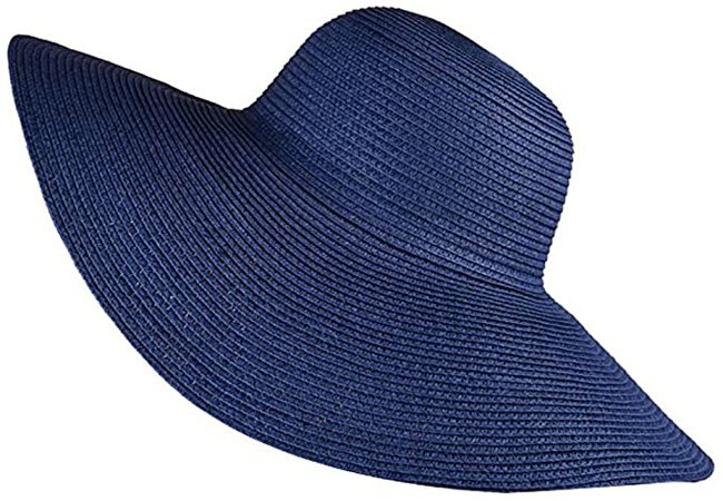 Summer Packable Brown Big Brim Straw Hat Women Beach Floppy Hat at Amazon Women's Clothing store