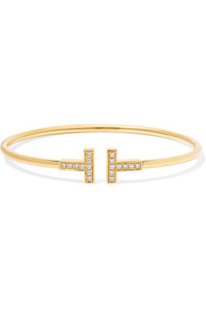 Tiffany & Co. | Bracelet en or 18 carats et en diamants T Wire | NET-A-PORTER.COM