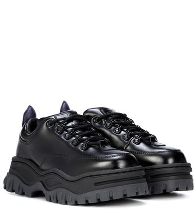 Angel platform leather sneakers