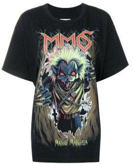 Zombie Cat Print T-Shirt