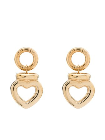 Laura Lombardi heart-shaped Drop Earrings - Farfetch