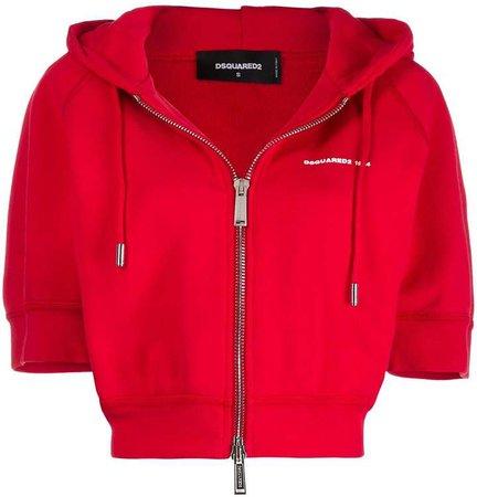short-sleeved hooded sweatshirt
