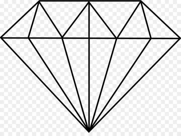 Geometric Drawing Diamond