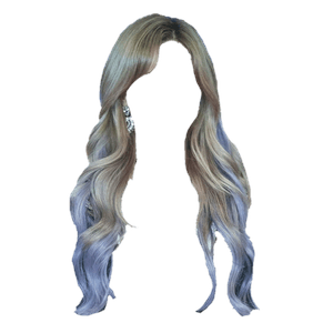 Gray Blue Hair PNG
