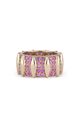 Kendra Pariseault Wavelength Eternity Band With Pink Sapphire