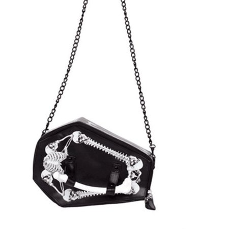 JIEROTYX Skulls Bats Design Womens Bags Handbags Crossbody Bags Girls Shoulder Messenger Bag Female Black Punk Gothic Drop Ship-in Shoulder Bags from Luggage & Bags on AliExpress