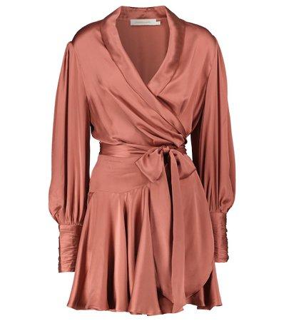 Zimmermann - Silk wrap minidress | Mytheresa