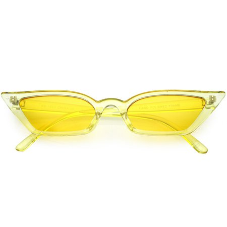 Retro Women's Translucent Thin Cat Eye Pantone Sunglasses - zeroUV