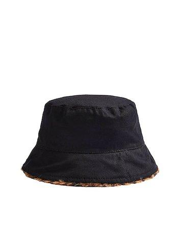 Καπέλο Topshop Leopard Print Faux Fur Revere Bucket Hat - Γυναίκα - Καπέλα Topshop στο YOOX - 46683903EI
