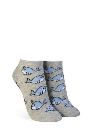 Narwhal Print Ankle Socks | Forever 21