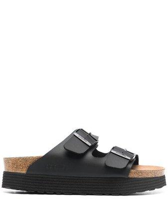 Shop black Birkenstock Arizona platform sandals with Express Delivery - Farfetch