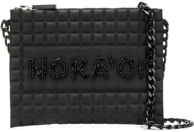 No Ka' Oi bead embroidered waffled crossbody