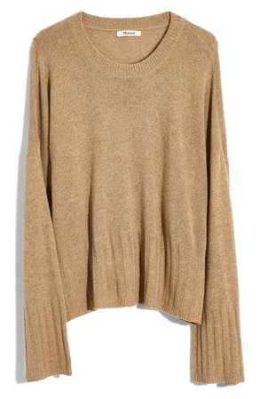 Madewell Ayres Wide Sleeve Pullover Sweater (Regular & Plus Size) camel
