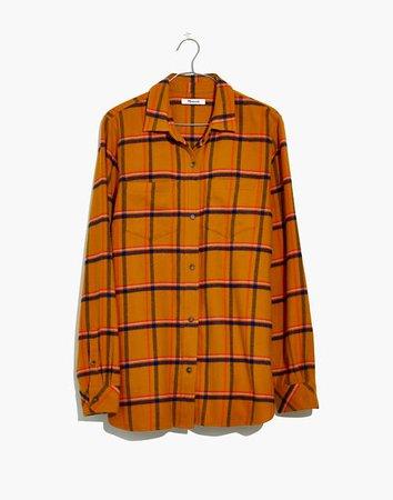 Flannel Classic Ex-Boyfriend Shirt in Caffrey Plaid orange