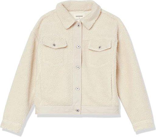 Amazon.com: Amazon Brand - Goodthreads Women's Sherpa Oversized Long Sleeve Trucker Jacket: Clothing