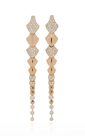 Python 18K Gold Diamond Earrings by Akillis