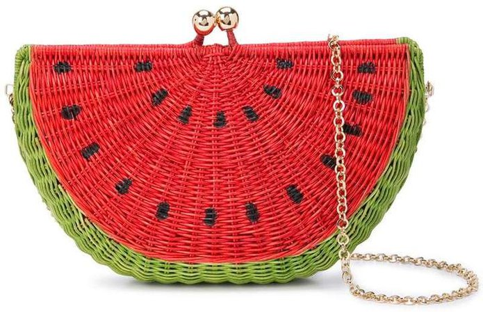 Serpui watermelon clutch bag
