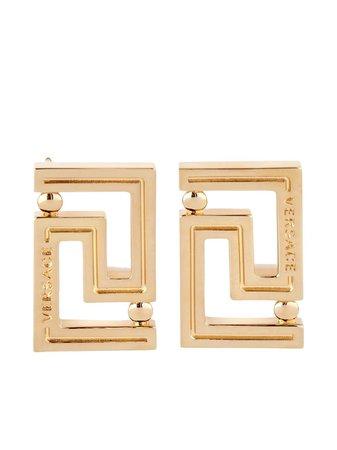 Versace Greca Stud Earrings - Farfetch