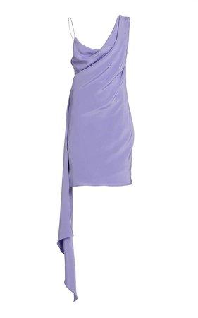 Cushnie Open-Back Silk Mini Dress