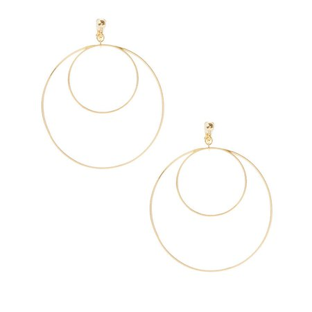 Gold Double Hoop Clip on Earrings | Claire's