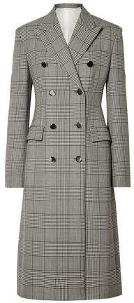 Prince Of Wales Checked Wool And Silk-blend Coat