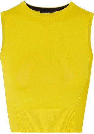 Raylee Cropped Stretch-knit Tank - Yellow