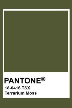 Terrarium Moss Pantone
