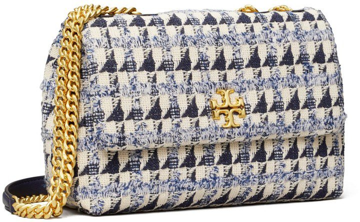 Kira Chevron Tweed Small Convertible Shoulder Bag